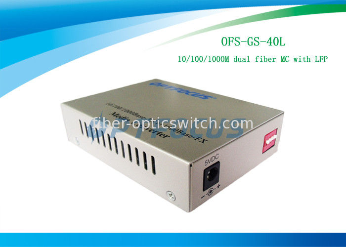 LFP Single Mode Media Converter Gigabit 40 Km 40X110X140 Mm Adopting Internal Power Supply supplier