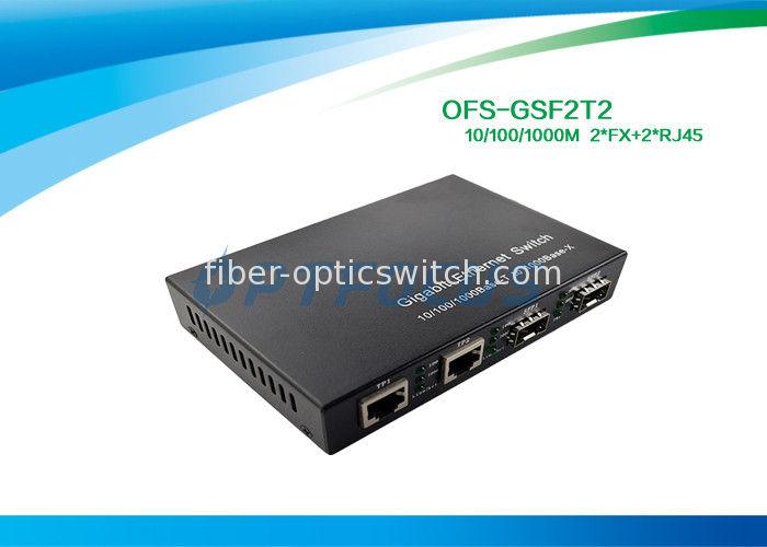 10100mbps 2 Port Ethernet Switch Gigabit Ethernet Switch 12G