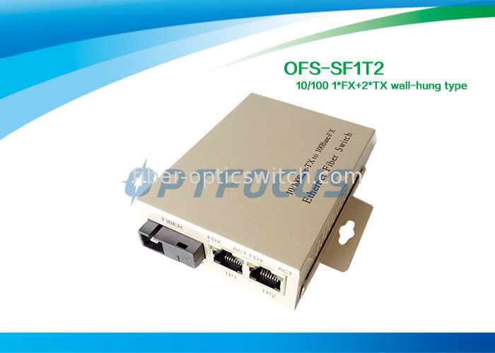 Silver Single Mode Fiber Optic Switch , performance optical fibre switch Wall Hung TYPE supplier