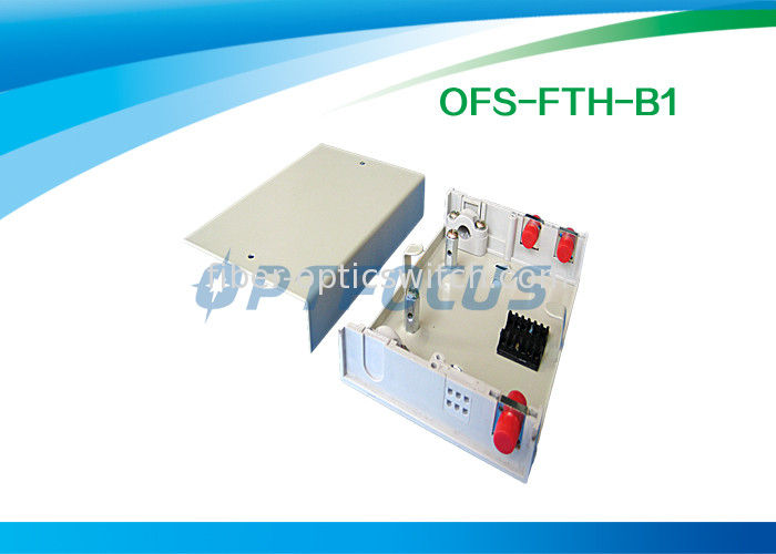 Network Termination Box Fiber Optic Pigtails Metal 2 Ports Wall Mounted