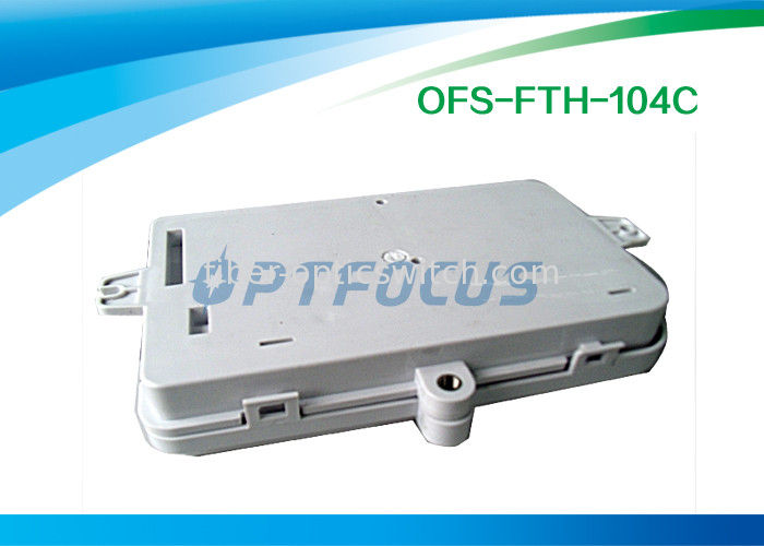 Wall Mount Fiber Termination Box 4 Core FTTH Small SC / FC / LC Connecter supplier