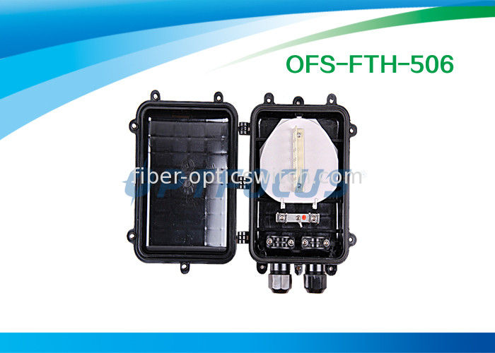 24 cores Fiber Optic Enclosures 2 port / 2×14 mm 4×12 mm Splicing Fiber Optic Cable supplier