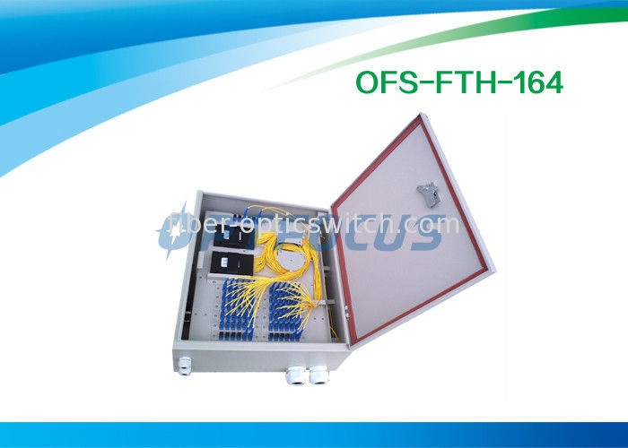 Wall Mounted Cabinet Single Fiber Optic Termination Box 24 Splice Tray supplier