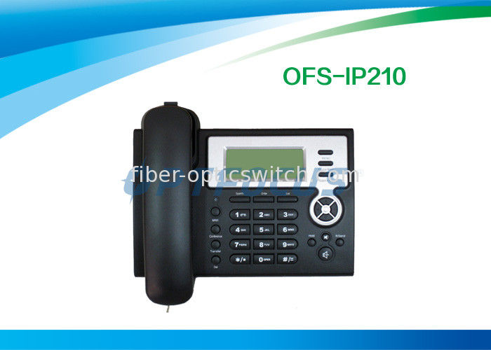 Black 3 Way Call POE IP Phone supplier