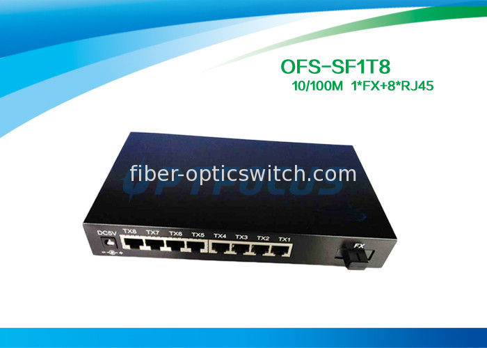 Full Duplex Optical Fiber Switch 8 Port 1536 Bytes Frame UTP Cable supplier