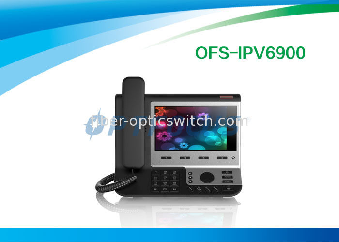 Black 4 SIP Poe IP Video Phone Broadcom Wifi Chip for SysLog / Web Capture 0.99kg