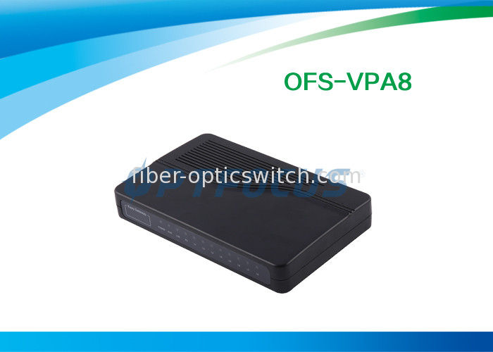 8 FXS VoIP Gateway ATA  SIP H.323 Two Ports 10 / 100 Base-T Ethernet Voice Prompts