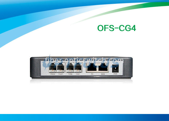 RJ45 FXS Voip Gateway 2 Port Ethernet Router CDR Wall Mountable Volume Control