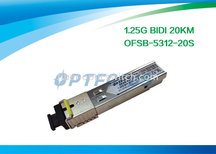 Network Fiber SFP Optical Transceivers Telecom Communication 1.25G Bi-Di 20km SC