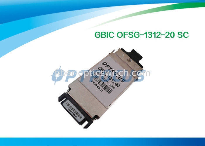Duplex Single Mode SFP Optical Transceiver 1.25G GBIC - LX Optical Transceiver Module 1310nm 20KM SC supplier