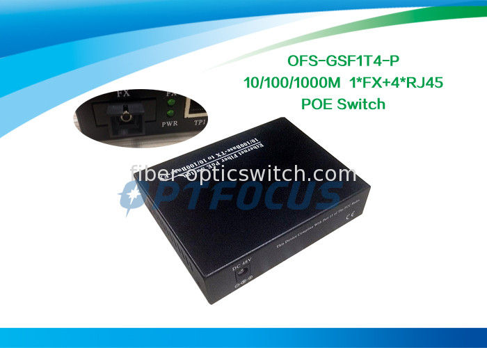 5 Port Power Over Ethernet POE / Gigabit Poe Network Switch DF SM Mulyimode