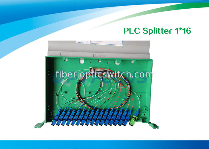 High Reliability Fiber Optic Splitter 1 In 16 Out / 1260nm 1650nm PLC Splitter 19'' supplier