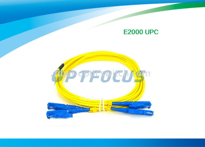 Fiber Optic Patch Cable Passive Components E2000 UPC Fiber Optic Patch Cord