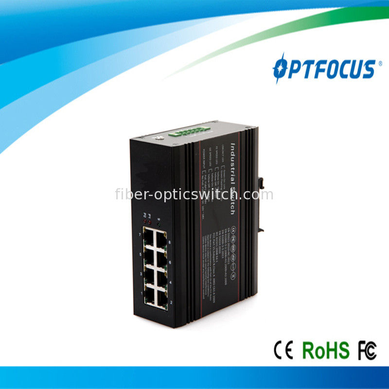 Single mode 20km / 40km fast fiber Industrial Ethernet switch unmanaged 8 10M / 100M RJ45