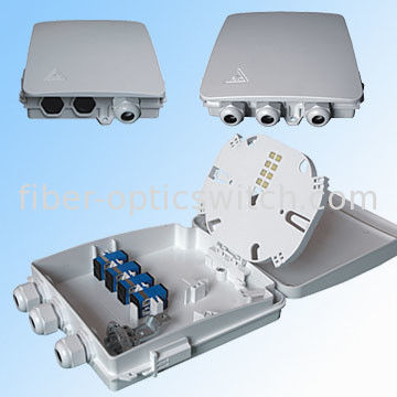 Indoor 8 Cores Ftth Terminal Box Fiber Optic Wall Mounting With Plc Splitter / Pigtail And Adapters supplier