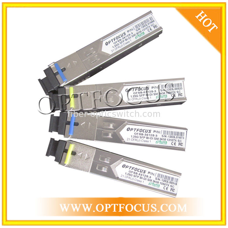 BIDI Fast Gigabit Ethernet SFP Optical Transceiver 155M And 1.25G With SC Or LC Connector
