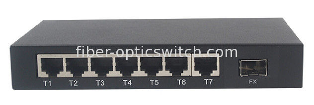 Fast 8 ports fiber optic ethernet switch 100FX and 7 10 / 100M rj45 with management function