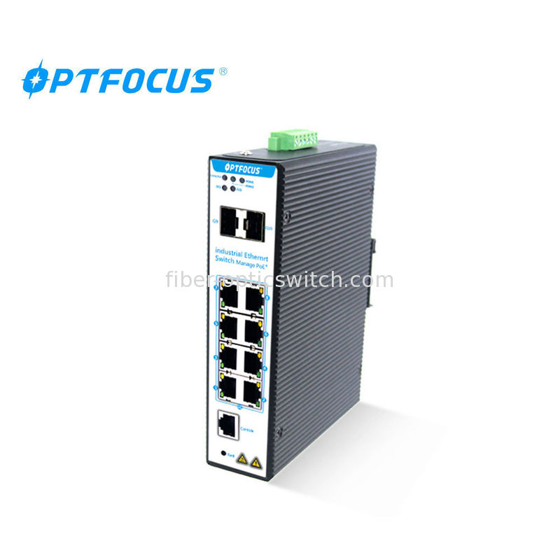 SFP Managed Gigabit Ethernet Switch 2port 100 / 1000M Automatically Support IGMP