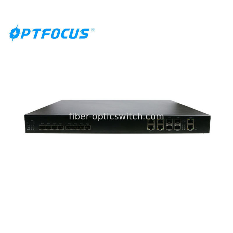 Plug / Play FTTH GPON OLT 4GE RJ45 Auto Firmware Upgrade 20km Farthest Distance
