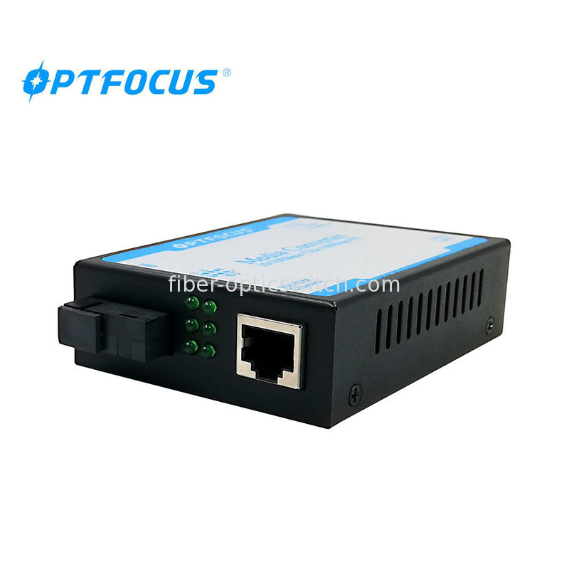 Durable 100 BASE -T Fiber Media Converter Single Mode Supporting 1552 Bytes Packet supplier