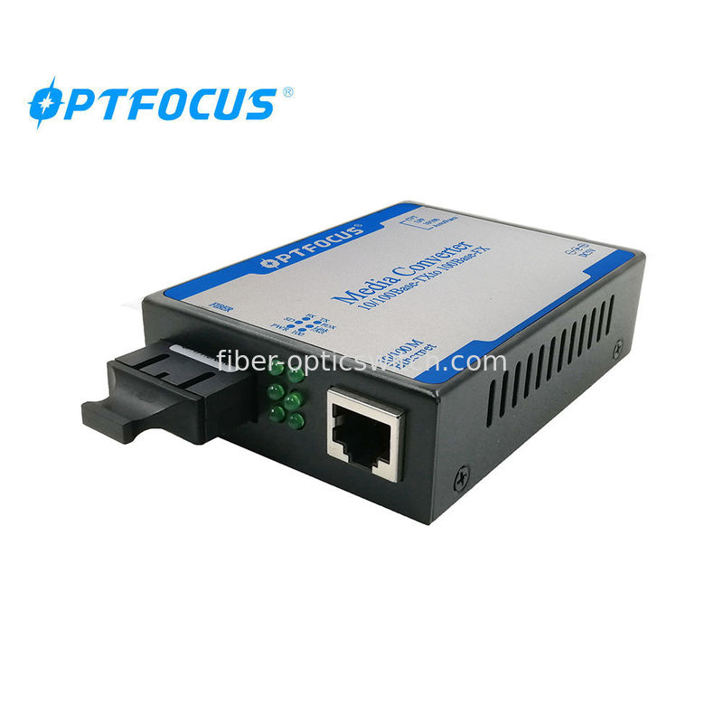 rj45 to Fiber Single Mode LFP Media Converter 1310nm 60 km half - duplex supplier
