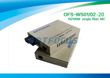 Black Single Ethernet Fiber Optic Converter 128K 10 / 100M UTP Connector