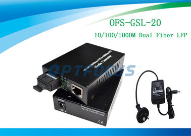20 Km Single Mode Fiber Media Converter